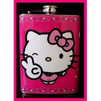 Amazon.com: Hello Kitty Pink Hip Flask Stainless Steel 8oz FH7: Everything Else
