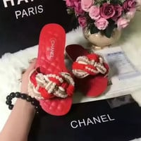simpleclothesv :CHANEL: Casual Fashion Women Sandal Slipper Shoes