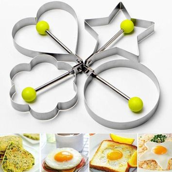 New Kitchen Cocina Fried Egg Shaper Pancake Mould Mold Kitchen Cooking Tools Stainless Steel Levert Dropship dig6927
