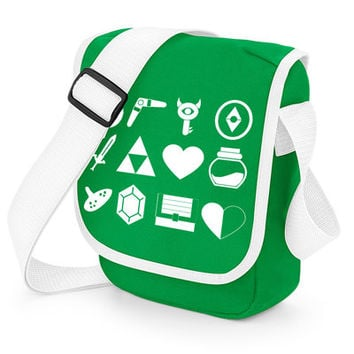 The Legend Of Zelda Inspired Mini Messenger Shoulder Bag Geeky Gamer