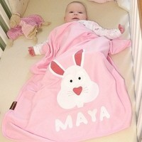 Baby Shower Gifts - Personalised Baby Bunny Blankets