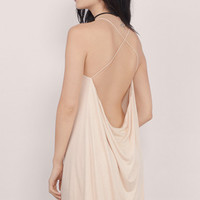 Swing Low Backless Mini Shift Dress $36