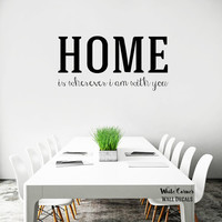 rta223 Lettering Sign Home Family Inspiritional Words Big latters Living Room Bedroom Wall Decal Vinyl Sticker Decals Art Decor Design