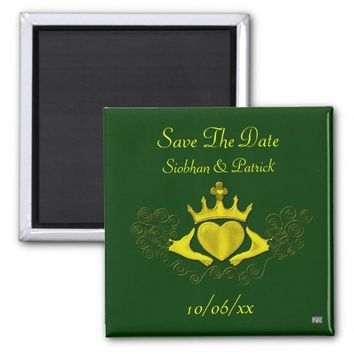 Claddagh (Gold) (Save the Date) Magnet