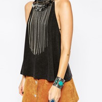 ASOS Festival Halter Top with Coin Embellishment