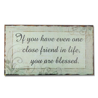 """Adeco Decorative Wood Wall Hanging Sign Plaque """"You Are Blessed"""" Seafoam, Black Home Decor"""