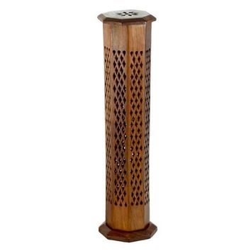 Wooden Incense Burner Tower - Decorative
