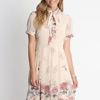Past Memories Floral Print Dress | Ruche