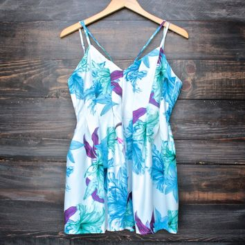 final sale - floral distraction romper