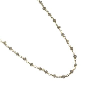 Labradorite and Sterling Silver Rosary Chain