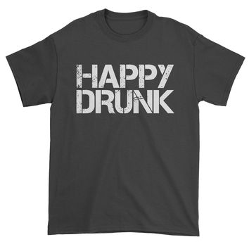 Happy Drunk Mens T-shirt