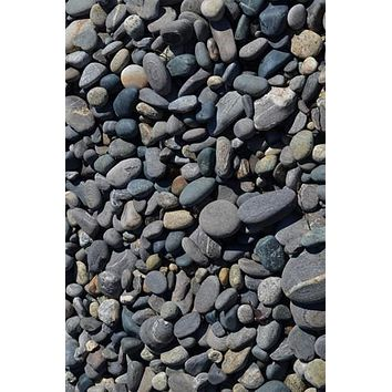LOOSE STONE BEACH PEBBLES FLOOR DROP - 4x5 - LCCF6251 - LAST CALL