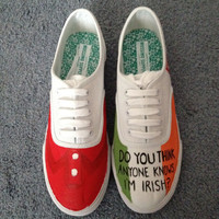 Hand Painted Niall Horan Shoes by gianabucchino on Etsy