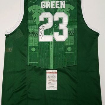 Draymond Green Signed Autographed Michigan State Spartans Basketball Jersey (JSA COA)