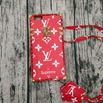 LV 2017 Hot ! iPhone 7 iPhone 7 plus - Stylish Cute On Sale Hot Deal Matte Couple Phone Case For iphone 6 6s 6plus 6s plus Red