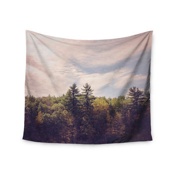 "Jillian Audrey ""Walden Woods"" Green White Wall Tapestry"