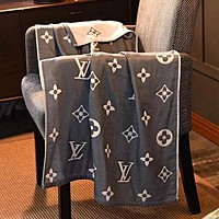 """Louis Vuitton"" LV Newest Stylish Personality Cotton Soft Water Absorption Beach Towel Swimming Towel Bath Grey"