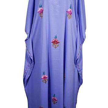 Mogul Womens Evening Caftan Kashmiri Embroidered Kaftan Cover Up Maxi Dress: Amazon.ca: Clothing & Accessories
