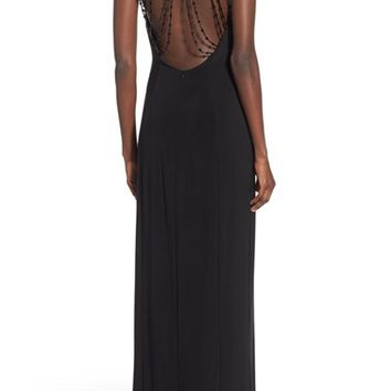 Jump Apparel 'Bree' Beaded Back Gown | Nordstrom