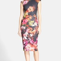 Women's Ted Baker London 'Catina' Floral Print Body-Con Dress