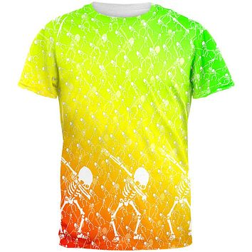 Cinco De Mayo Dancing Dabbing Skeletons All Over Mens T Shirt