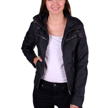 Casual Slim Fit Motorcycle Biker PU Faux Leather Bomber Vintage Jacket Coat