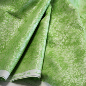 Green Quilt Fabric, Shimmer 8680-31, Moda Classic,  Leaves pattern, 2 Yards, OOP