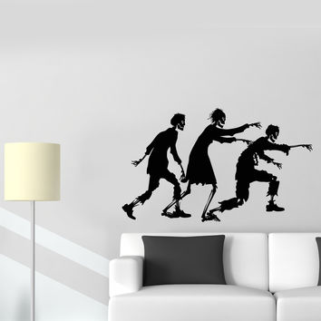 Wall Decal Zombie Dead Skeletons People Fear Monsters Vinyl Sticker Unique Gift (ed644)