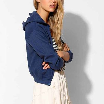BDG Overdyed Zip-Up Hoodie Sweatshirt-