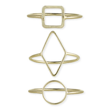 Gold Minimalist Shape Ring
