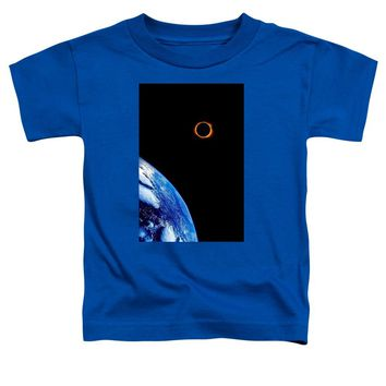 Solar Eclipse From The Space By Adam Asar - Toddler T-Shirt