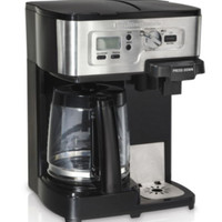 Two Way 12-Cup Coffee Maker With Carafe Small Kitchen Appliance Black Finish New