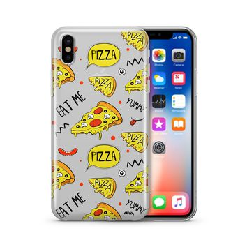 Eat Me Pizza - Clear Case Cover