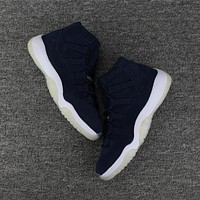 Nike Air Jordan Retro 11 Premium Derek Jeter Re2pect 351792-147 Men Basketball Sneakers Sports Shoes