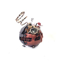 Small Steampunk Halloween Pumpkin with Monocle