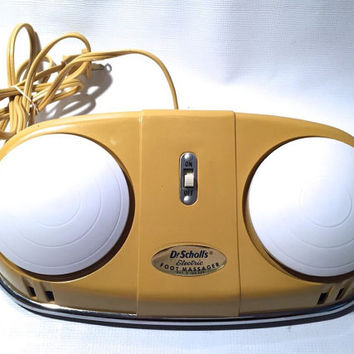 Vintage 1959 electric Foot Massager Dr. Scholl's Works! mid-century gadget FREE shipping