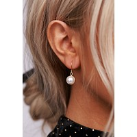 Not Your Pearl Dangle Earrings (Gold)