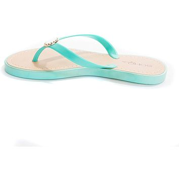 Soho Shoes Women's Pearl Jelly Flop Flop Thong Sandal