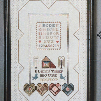 Bless This House Counted Cross Stitch Pattern Chart by Cross N Patch