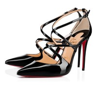 Cl Christian Louboutin Crossfliketa Black Patent Leather 18s Pumps 1180356bk01