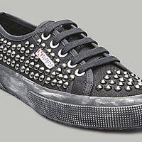 Superga-USA.com - 2750 CANVAS STUDS BLACK BLACK