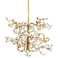 Porcelain Flower Chandelier, White/Gold | One Kings Lane