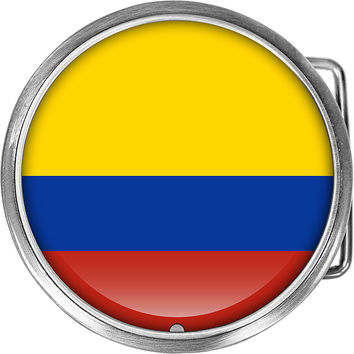 Columbia Flag Belt Buckle