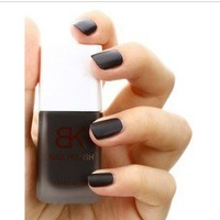 Matte Nail Art Polish Lacquer Dull Vivid Color Varnish Matt Black YNA-0067-15