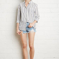 Two-Pocket Striped Shirt