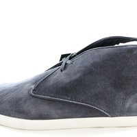 Lacoste Arona Lace-Up Mens Gray/Dark Blue Suede Fashion Sneakers Shoes