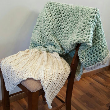 Mint cream Mermaid Blanket. Made by Bead Gs on ETSY. Adult size. mermaid tail