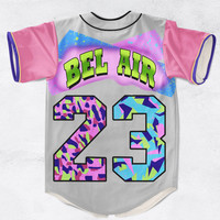 Inspired by The Fresh Prince of Belair 23 Custom Made Fashion 3D Sublimation Print Baseball Jersey
