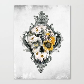 Skull Still Life Canvas Print by RIZA PEKER