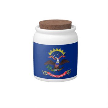 North Dakota State Flag Candy Jar